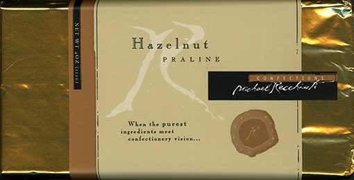 Recchiuti Hazelnut Praline wrapper
